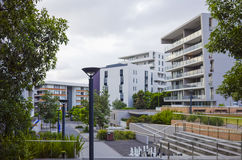 Apartment buildings, Rhodes, Sydney, Australia Stock Photography