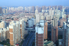 Apartment Buildings in Shanghai Royalty Free Stock Image