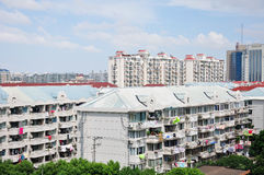 Apartment buildings in Shanghai Royalty Free Stock Images