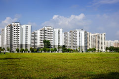 Apartment Buildings. Singapore Housing Development Board Apartment Buildings Royalty Free Stock Photo