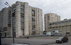 Apartment Buildings in St. Petersburg royalty free stock photography