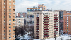 Apartment buildings in winter Stock Photography