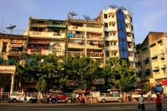 Apartment buildings in Yangon, Myanmar Royalty Free Stock Image