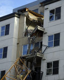 Apartment collapse in downtown bellevue Royalty Free Stock Images
