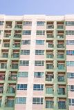 Apartment community of urban residents with limited space royalty free stock image