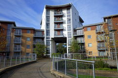 Apartment Complex in England stock images