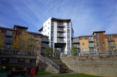 Apartment Complex in England stock image