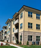 Apartment complex exterior details Royalty Free Stock Photo