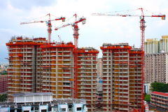 Apartment Complex Under Construction Stock Images