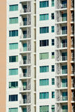 Apartment condo building detail Royalty Free Stock Photography