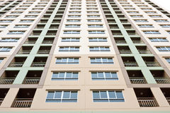 Apartment condo building detail. High Rise apartment condo building detail stock images