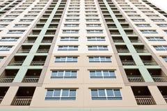 Apartment condo building detail. High Rise apartment condo building detail Stock Images