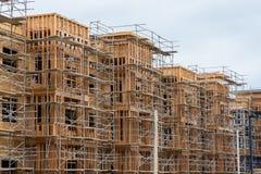 Apartment of condominium construction Stock Images