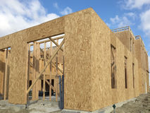 Apartment construction in community Stock Photo