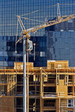 Apartment Construction Crane Royalty Free Stock Image
