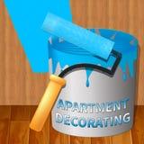 Apartment Decorating Means Condo Decoration 3d Illustration. Apartment Decorating Paint Means Condo Decoration 3d Illustration Stock Images