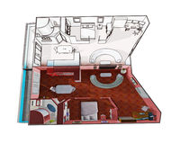 Apartment design drawing Stock Images