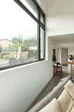 Apartment, detail of the living room with window Royalty Free Stock Photography