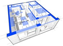 Apartment diagram Stock Photography