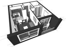 Apartment diagram Stock Image