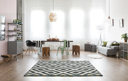 Apartment with dining area Stock Photos
