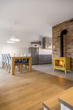 Apartment with dining area Royalty Free Stock Photography