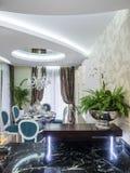 Apartment dinning room. Apartmen  interior design and decoration Stock Photo