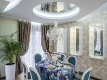Apartment dinning room. Apartmen  interior design and decoration Stock Photography