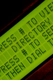 Apartment Directory. Close up of the dialing message to use a directory of an apartment building royalty free stock photos