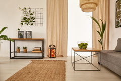 Apartment with earty decorations Royalty Free Stock Photography