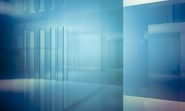 Apartment.Empty biuro z kolumnami i ampuł okno, Salowi bu Obrazy Royalty Free