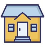 Apartment, family house Isolated Vector Icon which can be easily edit or modified. royalty free illustration