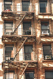 Apartment fire escape. Emergency fire escape on a decaying city apartment block Stock Photography