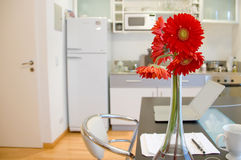Apartment with flowers Stock Images