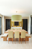 Apartment furnished, dining room Royalty Free Stock Images