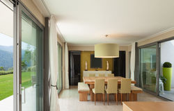 Apartment furnished, dining room Royalty Free Stock Image