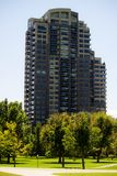 Apartment Hi-Rise in Park Royalty Free Stock Photos
