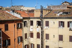 Apartment homes in Rome, Italy Royalty Free Stock Image