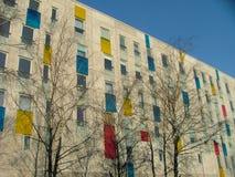 Apartment house. 's facade Royalty Free Stock Photo