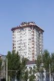Apartment house. DONETSK, UKRAINE - 23 MAY 2012: Apartment house near Donbass Arena stadium, host UEFA EURO 2012 Royalty Free Stock Photography