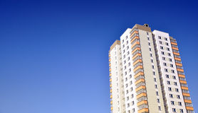 Apartment house. Before blue sky Royalty Free Stock Photos
