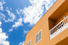 Apartment, house and blue sky Royalty Free Stock Photos