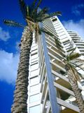 Apartment house on coast in Israel. The multi-storey hou apartment housese, urban architecture Stock Photo