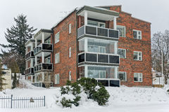 Apartment house in Finland Royalty Free Stock Images