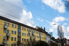 Apartment house in Germany, nice residential area. City royalty free stock photo