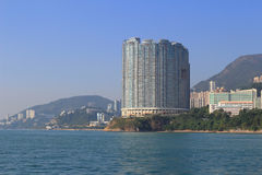 Apartment house in Hong Kong. The apartment house in Aberdeen Hong Kong royalty free stock images