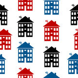 Apartment house icon seamless pattern Stock Images