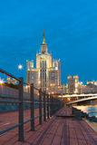 Apartment house on Kotelnicheskaya Embankment in Moscow Royalty Free Stock Image