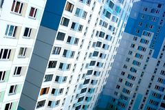 Apartment house Moscow Stock Photo