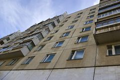 Apartment house in one of cities Russia Stock Image